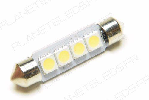 Ampoule Navette C5W 4 Leds SMD5050 41 mm FIRST (en vente par deux): Cette ampoule led 1er prix remplacera simplement votre ampoule…