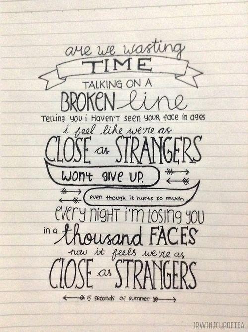 Close As Strangers { 5SOS }