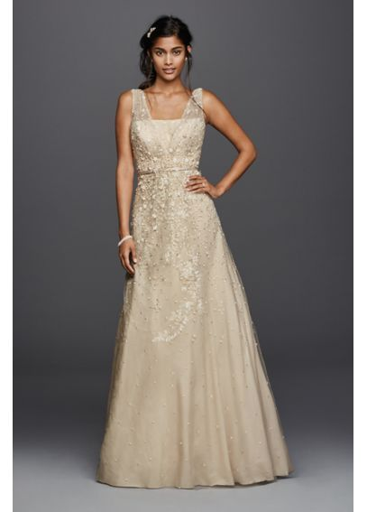 Petite Melissa Sweet 3D Floral Wedding Dress 7MS251151
