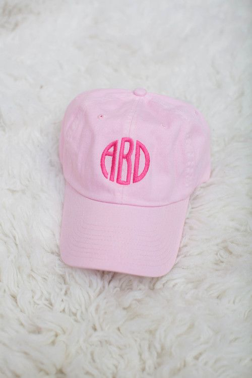 USE DISC. CODE: REPAMIE10 TO SAVE! www.punklilyboutique.com Pretty in Pink! Monogrammed cap.
