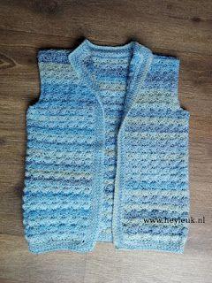 Mouwloos Vest Haken Gehaakt Door Heyleuk Pinterest Waistcoat