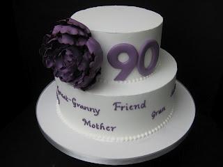 90th birthday cake  http://carolinescakecompany.blogspot.com/2010/12/peony-90th-birthday-cake.html
