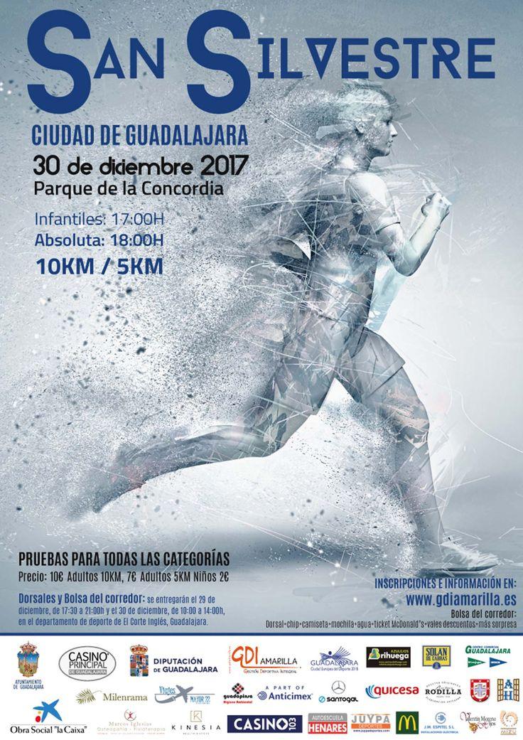 Qué mejor manera de terminar el año, que corriendo la San Silvestre de Guadalajara el 30 de Diciembre a las 18.00 horas.