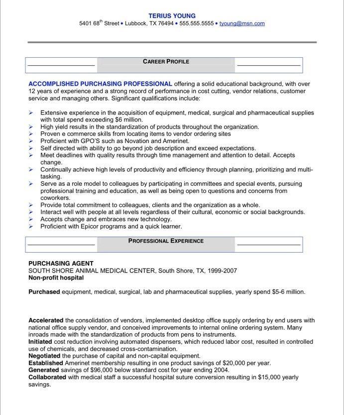 10 Procurement Resume Sample | Riez Sample Resumes
