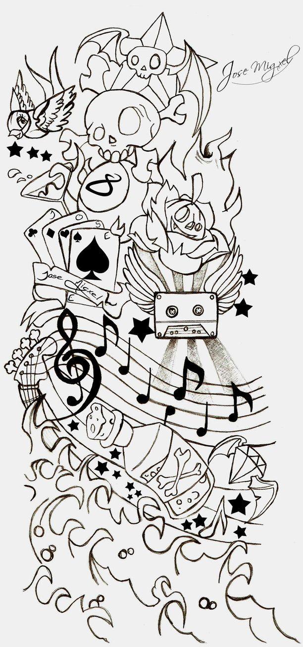 Line Drawing Tattoo Artists : Best new school tattoo stencils images on pinterest