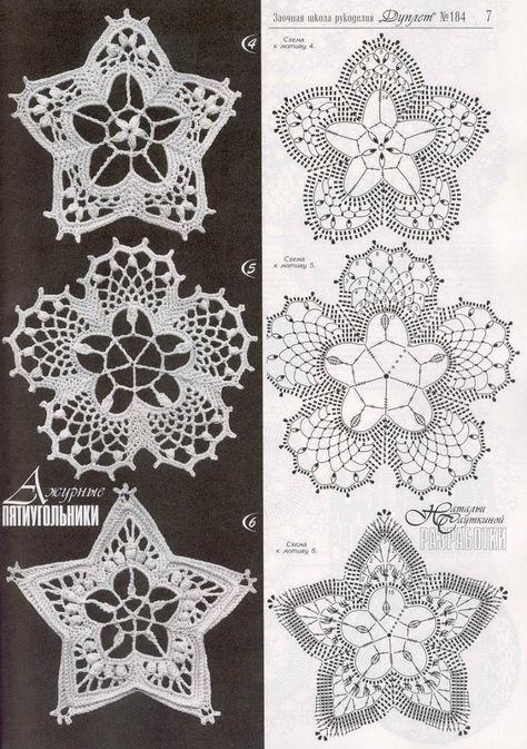 Crochet: motifs russian crocheted