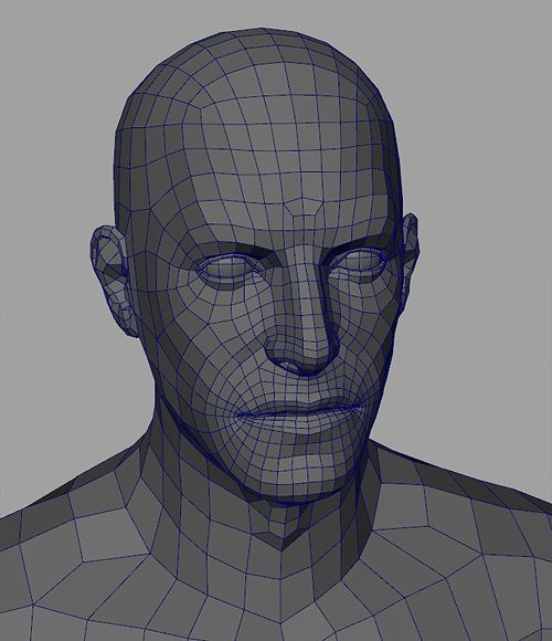 face topology | ... Subdivision Modeling Blog: Wireframe: Tom Parker – Face Topology