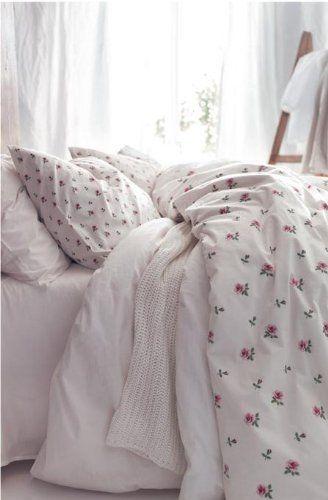 Ikea Emelina Knopp King Size Duvet Cover And 2 Pillowcases Set Roses