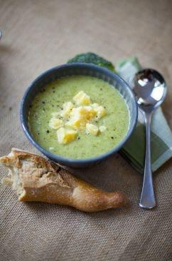 Broccoli and Cheddar Cheese Soup - maar dan met Gruyere of gewoon oude kaas