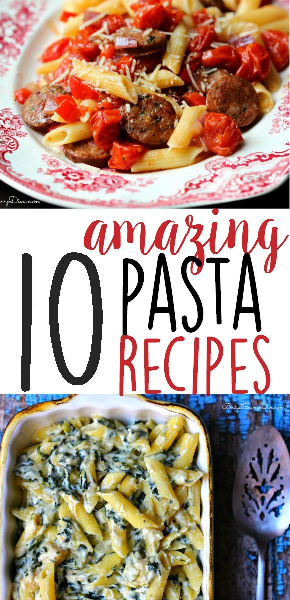 Pasta Recipe Ideas - All of them have been tested and approved. Very Easy Pasta Recipes - 10 Amazing Pasta Recipes!