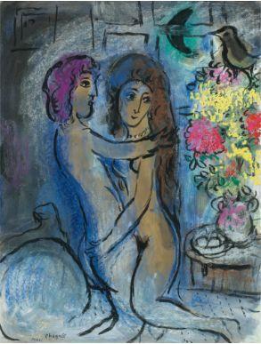 Marc-Chagall-Le-Couple-Bleu-