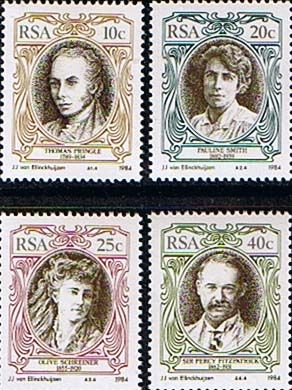 South Africa 1984 English Writers and Authors Set Fine Mint                    SG 554 7 Scott 626 9          Condition Fine MNH    Only one post