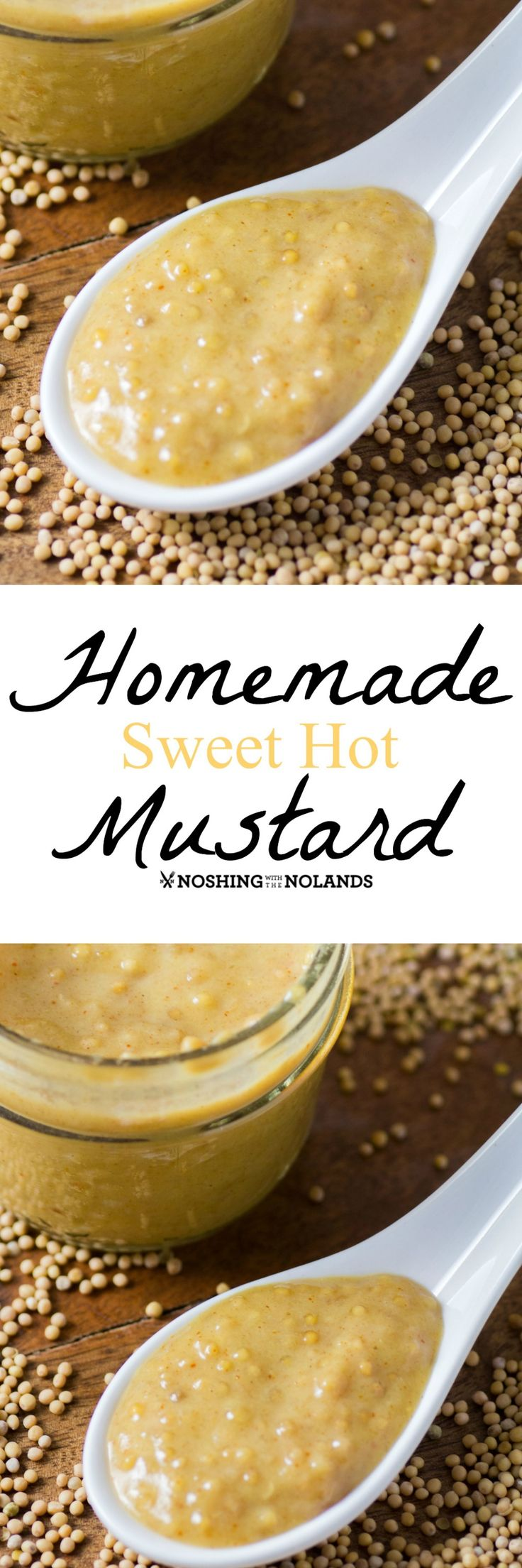 Homemade Sweet Hot Mustard by Noshing With The Nolands makes a great holiday gift to give and receive!! It goes perfectly with a holiday roast, ham or turkey!!