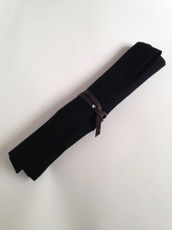 Knife Roll Washable Canvas Professional Chef's by HaversackLeather