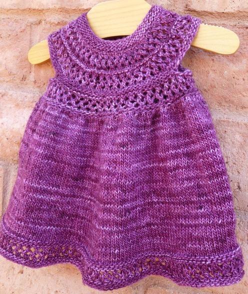 Knitting Pattern For Age : Taiga Hilliard Designs--Taiga Hilliard--Mischa Baby Dress (birth - age 3) K...