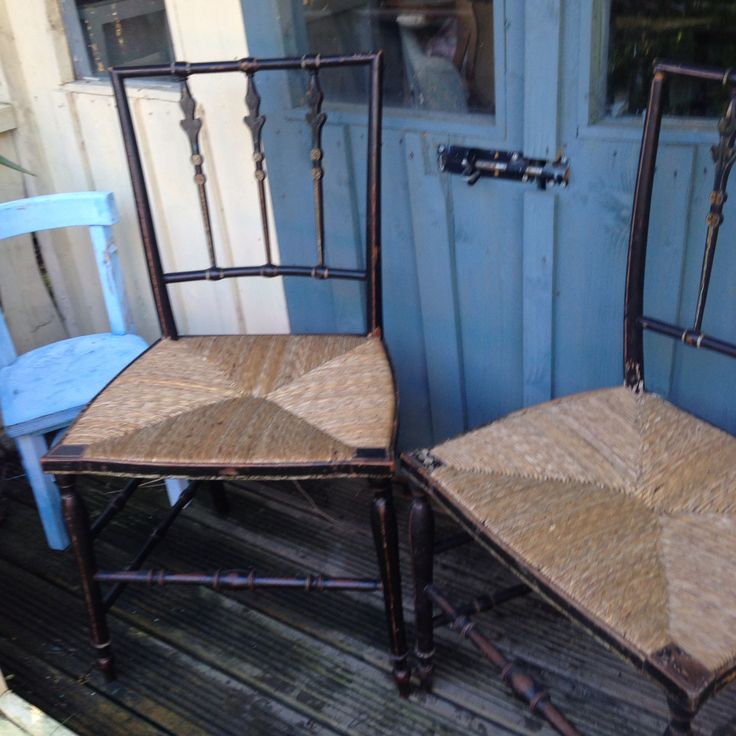 Antique chinoiserie chairs circa 1890 - one pair available