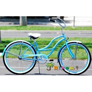 blue beach cruiser <3Baby Blue, Blue Tahiti, Beach Cruisers, Blue Beach, Beach Cruiser With, Random, Tahiti Beach