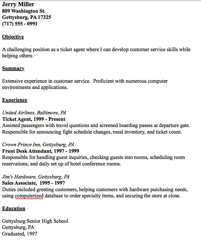 Ticket Agent Resume Example - http\/\/resumesdesign\/ticket - master electrician resume