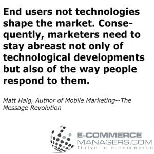 Great #quote by  Matt Haig Author of Mobile MarketingThe Message Revolution