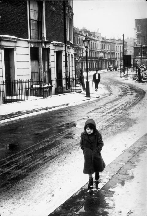 """George Rodger, Dickens London, 1962 This photo provokes so many thoughts! #1 being """"Where is that child's mother?"""" as my mom would always say :)"""