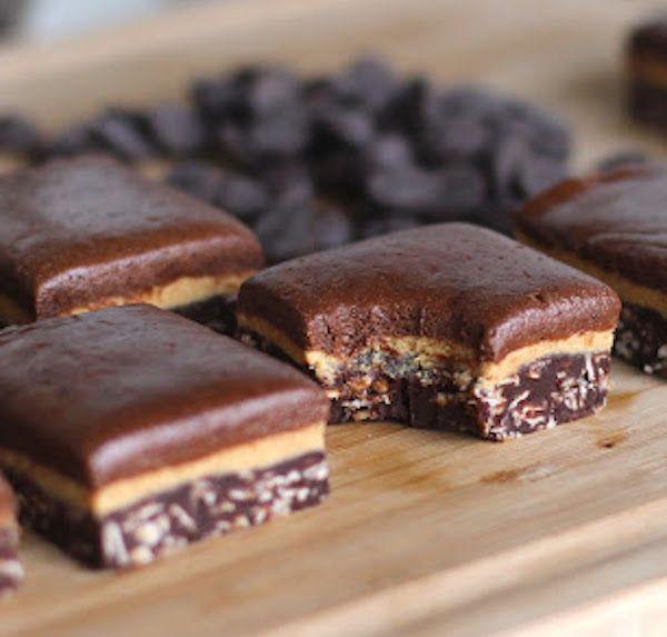 Triple-Decker Chocolate Peanut Butter Fudge