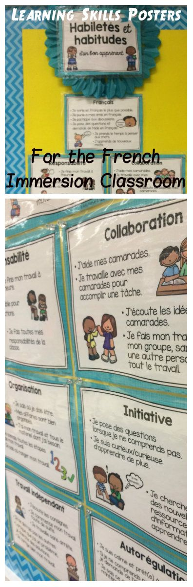 Habiletés et habitudes d'un bon apprenant. Primary & Junior Grades! Six learning skills in line with the Ontario curriculum + oral French. Four style sets to choose from, each with fourteen cards.