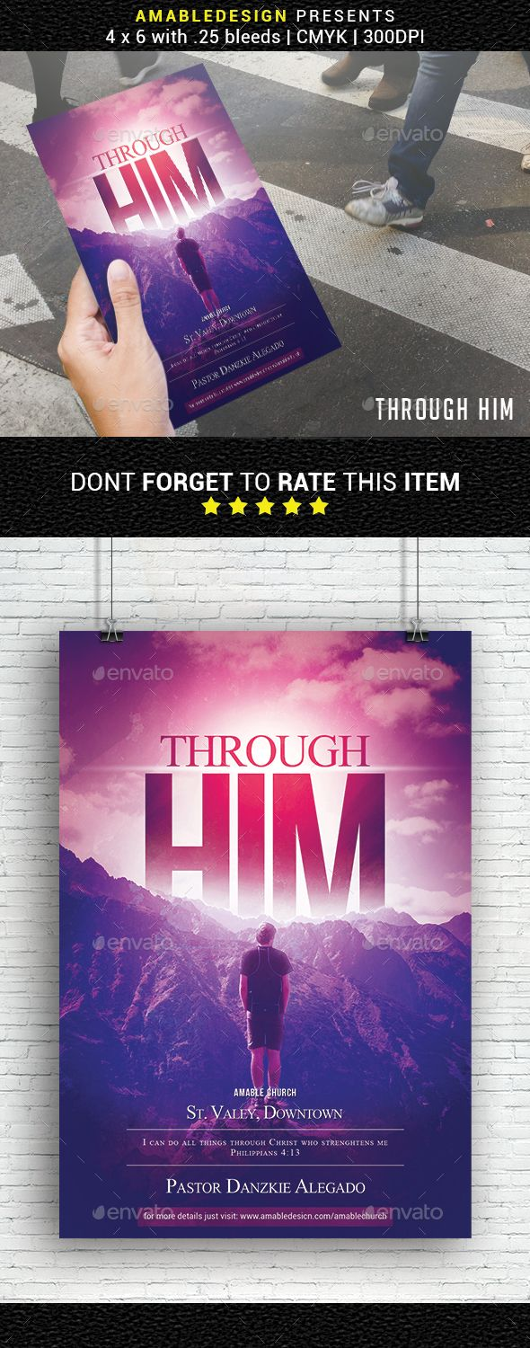 #Through Him Church Flyer - Church #Flyers