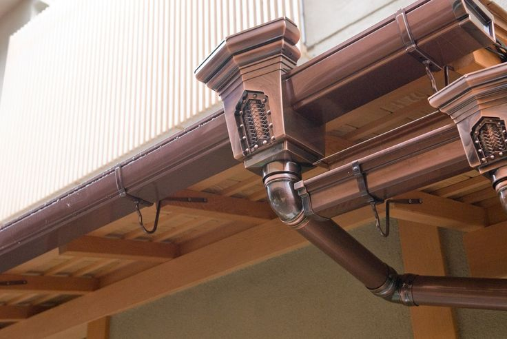Copper Gutters:) Ideas? ...Let the Steam Fly!~  http://vanpeltcontracting.blogspot.com/2012/08/copper-gutters-preferred-choice-for-home.html Raw Parts for Steampunk Art or just catch the Rain:)