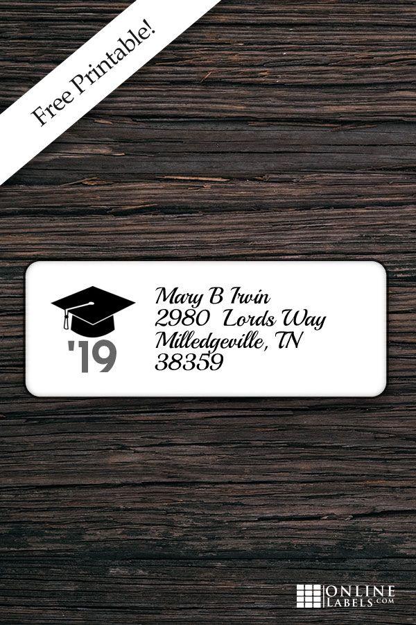 Graduation Address Labels Address Label Template Return Address Labels Template Grad Invitations