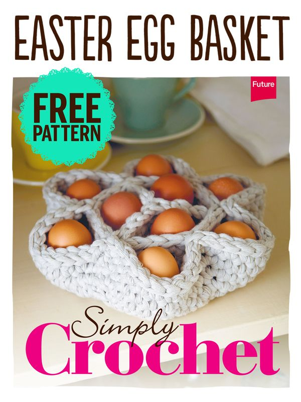 Egg basket pattern is available in the Simply Crochet App as a free download (Apple only)