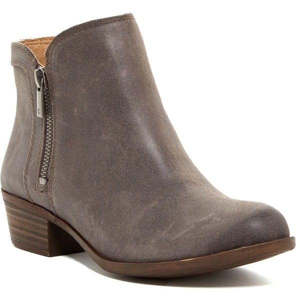 Lucky Brand Breah Bootie - Wide Width Available ($80) ❤ liked on Polyvore featuring shoes, boots, ankle booties, ankle boots, platform ankle boots, lucky brand bootie, short ankle boots and platform booties