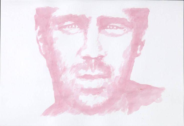 Titolo: Colin Farrell Tecnica: Alchermes (..il liquore) Tempo d'esecuzione: 12 minuti #portrait #art #ColinFarrell