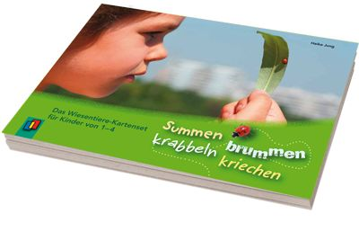 Brummen, summen, kriechen, krabbeln – Das Wiesentiere-Kartenset für Kinder von 1–4 ++ Diese stabilen und handlichen Fotokarten können Sie auf jedem Wald- und #Wiesenspaziergang dabei haben und haben so bei jeder tierischen Entdeckung eine Antwort parat. Ein informativer #Steckbrief gibt Ihnen die Möglichkeit Ihren Kindern etwas über die Lebenswelt der verschiedenen Wiesentiere zu erzählen. Dazu gibt es kleine kreative Anregungen für Bewegungs- oder Spielideen.  #Kindergarten #Kita