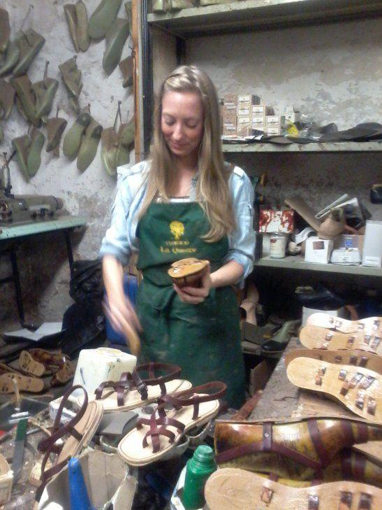 Shoemaking in Florence: artisan workshop (bottega)