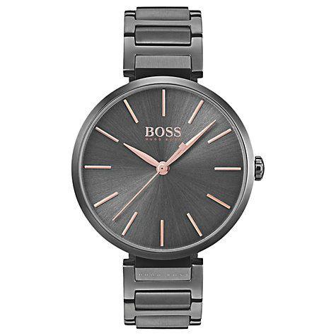 Buy HUGO BOSS 1502416 Women's Allusion Bracelet Strap Watch, Dark Grey Online at johnlewis.com