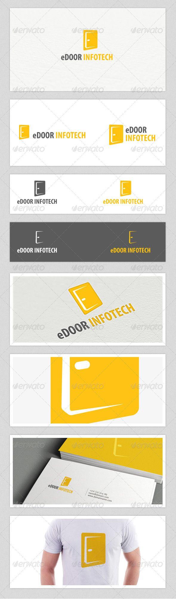 eDoor Infotech Logo — Photoshop PSD #isp #network • Available here → https://graphicriver.net/item/edoor-infotech-logo/3932482?ref=pxcr