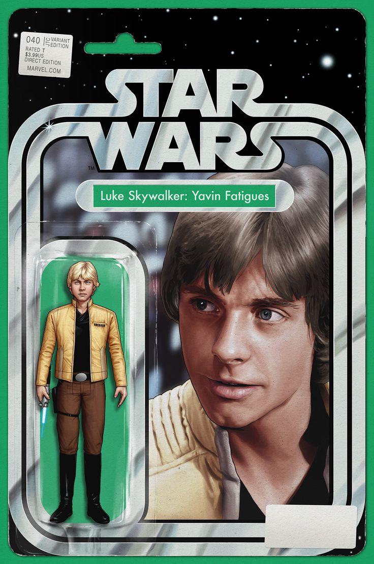 [COMIC BOOK VARIANT] Star Wars #40 Luke Skywalker Yavin Fatigues JTC Action Figure