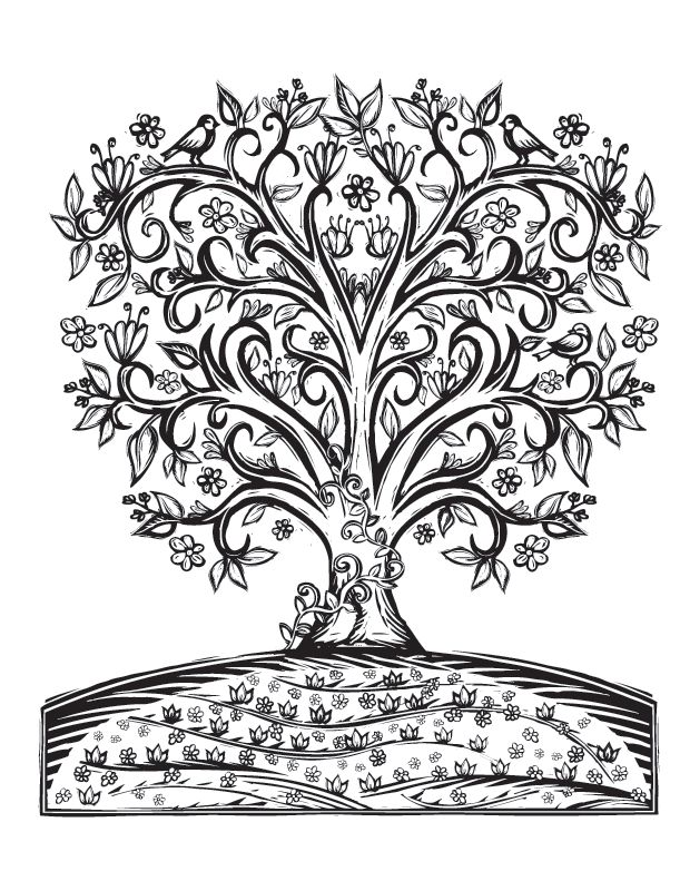 17 best images about colorir arvores on pinterest trees for Lydia coloring page