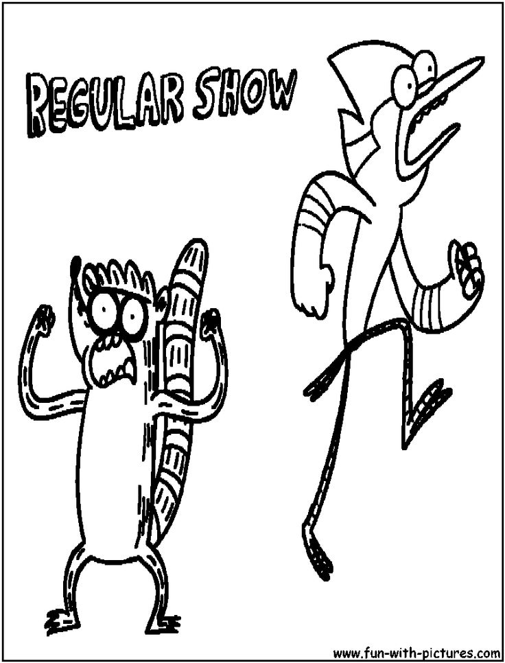 regularshow coloring page