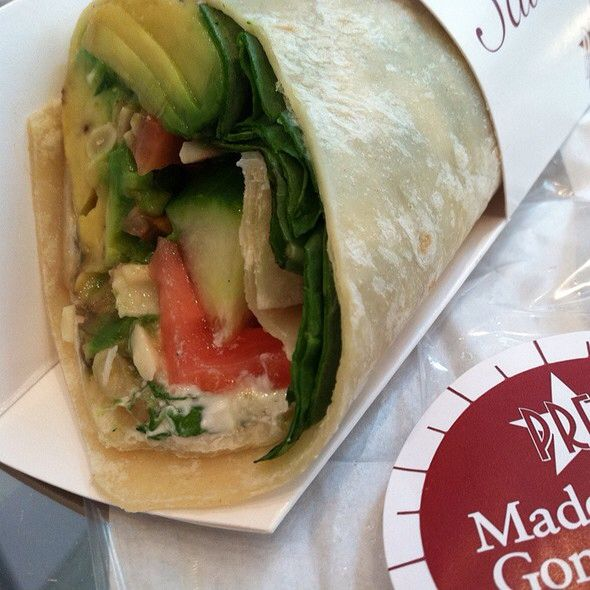 Pret a Manger avocado herb salad wrap recipe