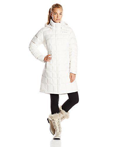 Columbia Sportswear Women's Hexbreaker Long Down Jacket, Sea Salt, Medium