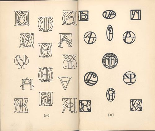 """""""how to design monograms"""" by elizabeth and curtiss sprague, 1927Design Inspiration, Logo Design, Vintage Monograms, Monograms Bit, Letters Style, Design Monograms, Artists Techniques, Design Lovers, Antiques Monograms"""