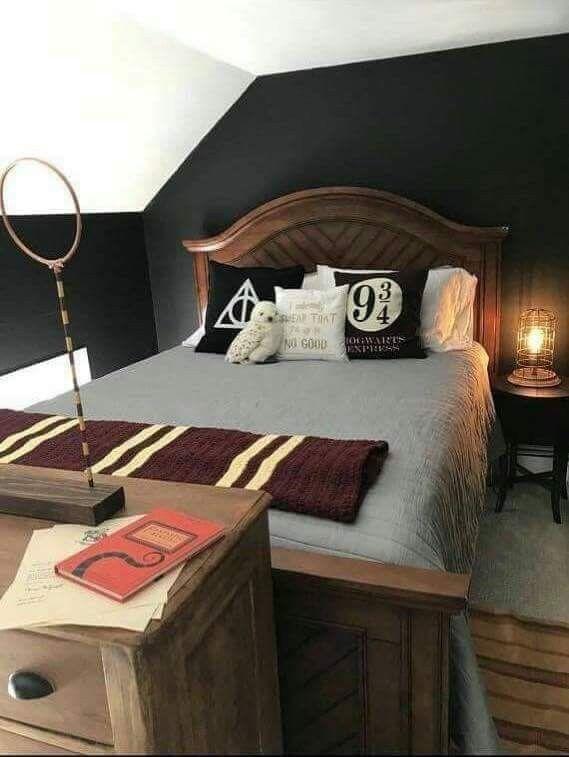 Decoraci n de habitaci n de harry potter cuarto mariana for Harry potter cuartos decoracion