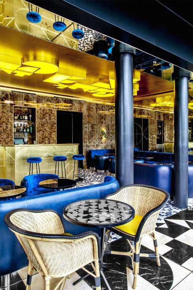 Caf Franais Thierry Costes Restaurant By India Mahdavi
