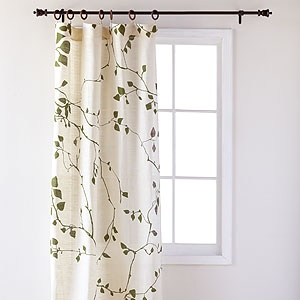 These curtains have branches with hunter green leaves--love!