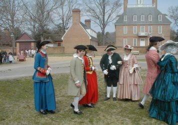 Old williamsburg virginia where i danced with costumed for Christina campbell tavern