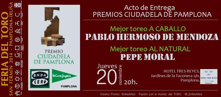 Entrega de los Premios Ciudadela de Pamplona.
