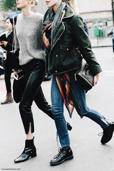 Chic flats at Paris Fashion Week
