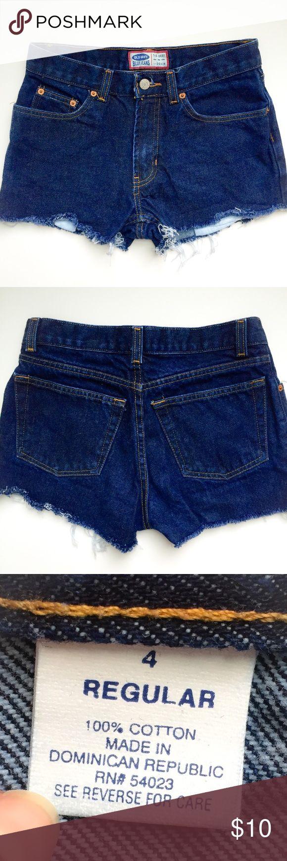 Cutoff Jean Shorts Old Navy cutoff Jean shorts. Size 4 regular. Old Navy Shorts Jean Shorts