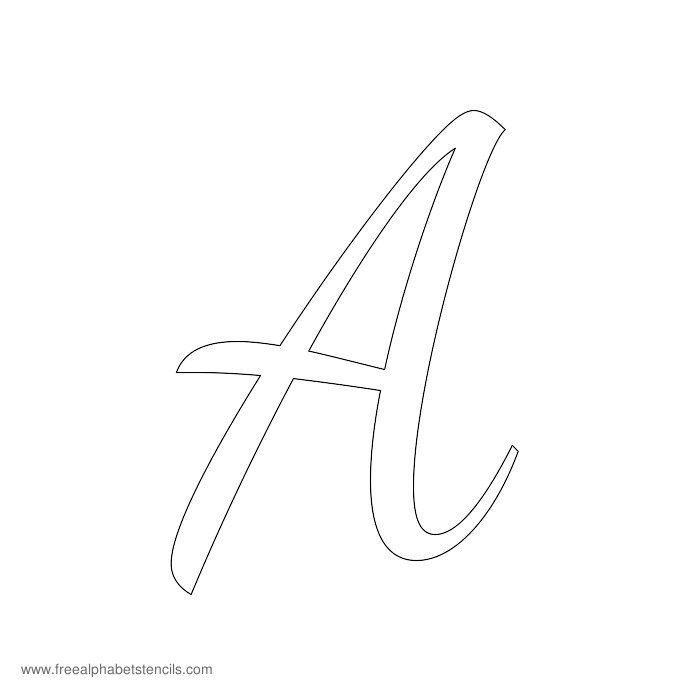 Read Article: 1950s Casual Cursive Alphabet Stencils